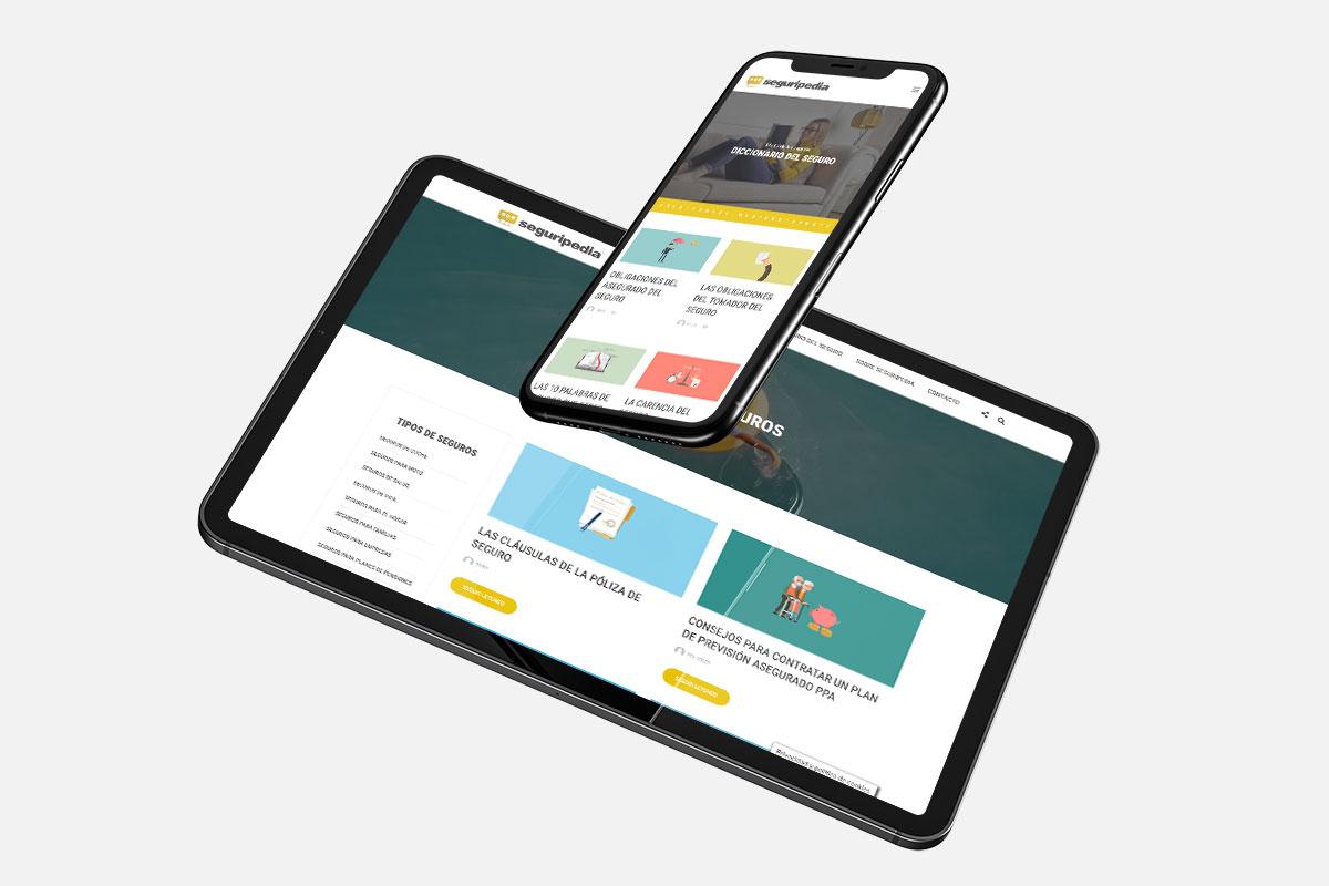 Diseño y desarrollo web de Seguripedia