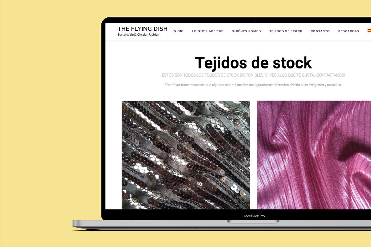 The Flying dish Diseño página web